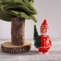ドイツ製 首ふりサンタ人形 ボビングアニマル