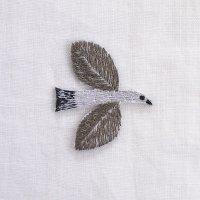 イラストレーター松尾ミユキ 刺繍ワッペン バード 鳥