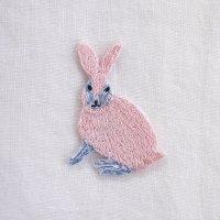 イラストレーター松尾ミユキ 刺繍ワッペン ウサギ