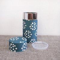 星燈社(せいとうしゃ) 茶筒(大)「花飾り」200g