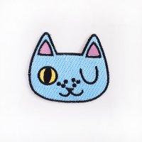 刺繍ワッペン ウインクキャット ネコ
