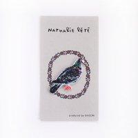 ナタリー・レテ 刺繍ワッペン Pigeon(ハト)