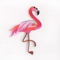 刺繍ワッペン フラミンゴ
