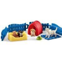 シュライヒ(Schleich)仔犬のあそび場 動物フィギュアセット