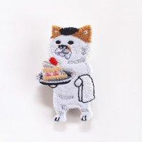 pokefasu ポケファス ネコケーキ ブローチ バッチ