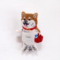 pokefasu ポケファス イヌの散歩 ブローチ バッチ