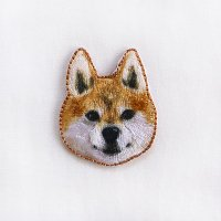 イラストレーター小池ふみ 刺繍ワッペン シバイヌ 柴犬