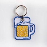 ニューレトロ 刺繍キーホルダー ビール