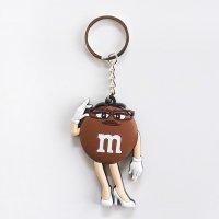 ラバーキーホルダー M&M's エムアンドエムズ チョコレート Ms.ブラウンさん