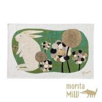 morita MiW ティータオル ウサギ - 草叢で