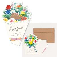 AIUEO 花を贈るメッセージカード カラフル