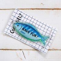 小池ふみ アイスパック かたくならない保冷剤 おさかな fish
