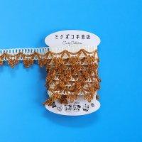 curly カーリーコレクション キラキラテープ☆ 1m ゴールド×ホワイト