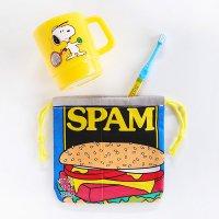 アメリカン巾着袋 小 SPAM缶 給食袋 コップ袋