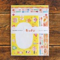 レトロ日記 3柄アソート レターセット 昭和キッチン