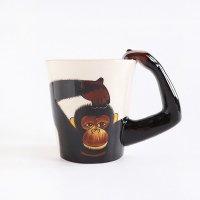 飛び出すアニマル 立体マグカップ モンキー チンパンジー