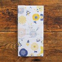 今日のお手紙 ハンコのお花キイロ  美濃和紙レターセット