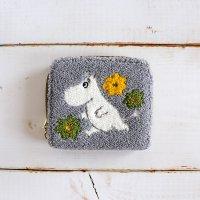 MOOMIN-ムーミン さがら刺繍カードケース コインケース グレー