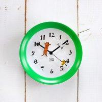 山鳩社 2WAYミニクロック グリーン 掛け時計&置時計