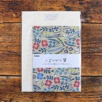 マカベアリス よりどり箋 ワイルドフラワー 使いきりレターセット 植物刺繍柄