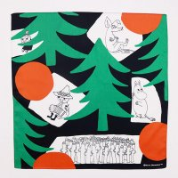 ムーミン ハンカチ カラフルな森 ブラック MOOMIN TRIBUTE WORKS