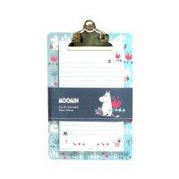 ムーミン クリップボード メモ用紙付き ブルー