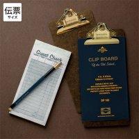Penco ペンコ クリップボード オールドスクール ゴールド チェック オーダー伝票サイズ
