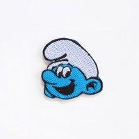 小型ワッペン スマーフ キャラクター Smurf