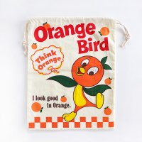 <img class='new_mark_img1' src='https://img.shop-pro.jp/img/new/icons60.gif' style='border:none;display:inline;margin:0px;padding:0px;width:auto;' />アメリカン巾着袋 大 Orange Bird オレンジバード ディズニーキャラクター
