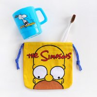 アメリカン巾着袋 小 シンプソンズ キャラクター 給食袋 コップ袋
