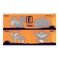 エッチングクリップス 小動物柄 リス・ハリネズミ
