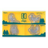 エッチングクリップス 鳥柄 フクロウ・インコ・ハト