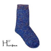 ポルトガル製ウールソックス 【H-Foot wear】 CHINE ロイヤル フリーサイズ(23-26cm)