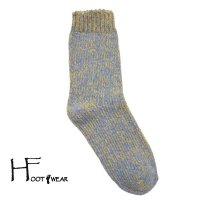 ポルトガル製コットンソックス 【H-Foot wear】 CHINE サックス フリーサイズ(22.5-26cm)