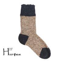 ポルトガル製ウールソックス 【H-Foot wear】 NEP CH×BE 男女兼用(23-27cm)