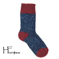ポルトガル製ウールソックス 【H-Foot wear】 NEP RE×NV 男女兼用(23-27cm)
