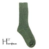 ポルトガル製ウールソックス 【H-Foot wear】 BOURRE オリーブ フリーサイズ(22.5-26cm)