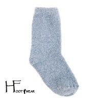ポルトガル製ウールソックス 【H-Foot wear】 BOUCLE ライトブルー レディース(22.5-24.5cm)