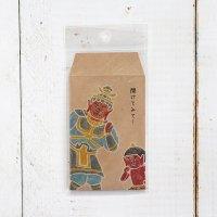 仏像ポチ袋 「開けてみて!」 毘沙門天