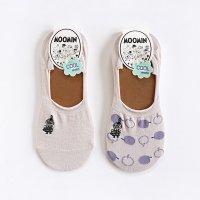 MOOMIN-ムーミン ミイ刺繍 ソックスカバー パンプスソックス 23-25cm