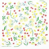 和ざらしハンカチ sunny flower 浅野みどり 52×52cm