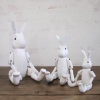 T-Lab.不思議の国のウサギ ホワイト 手作り木製人形