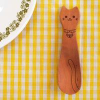 LaLuz(ラ・ルース)木製ネコのスプーン どうぶつカトラリー おやつスプーン