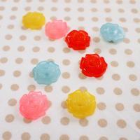 カーリーコレクション ボタンセット 2つ穴カラフルローズ