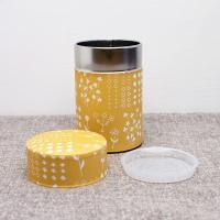 星燈社(せいとうしゃ) 茶筒(小)「押し花」150g