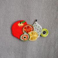 keikooogami イラストレーター大神慶子 刺繍ワッペン フルーツ 果物