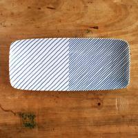 白山陶器(はくさんとうき) 重ね縞 長焼皿