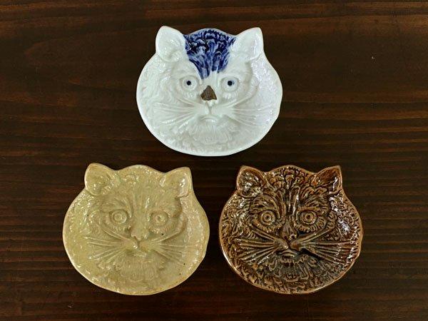 猫の陽刻豆皿 倉敷意匠計画室