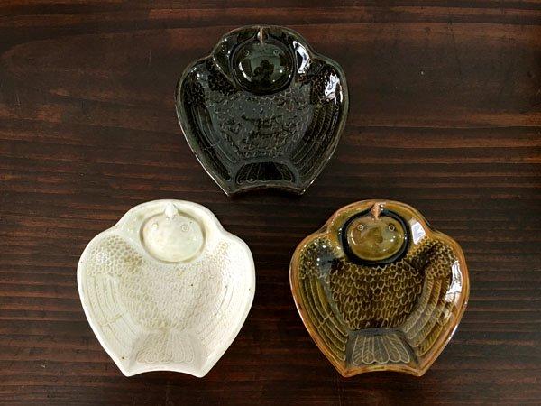 ふくら雀の陽刻豆皿 倉敷意匠計画室