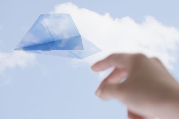 Par Avion よく飛ぶ紙飛行機便箋 ステル...